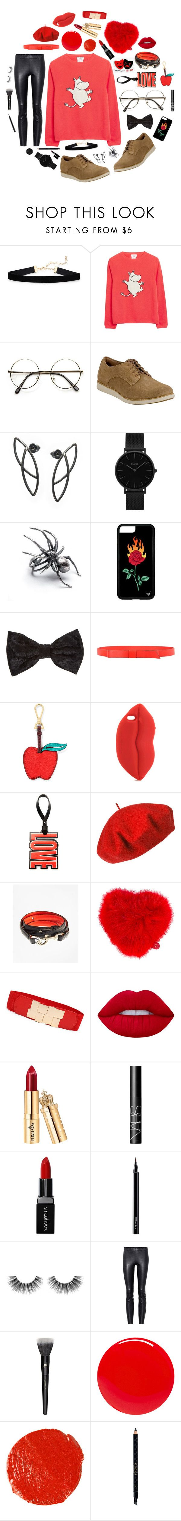 """""""Loafers - Red - Black"""" by laurenrogers357 ❤ liked on Polyvore featuring Timberland, CLUSE, Marni, Draper James, STELLA McCARTNEY, Givenchy, Betmar, Brooks Brothers, Anya Hindmarch and Lime Crime"""
