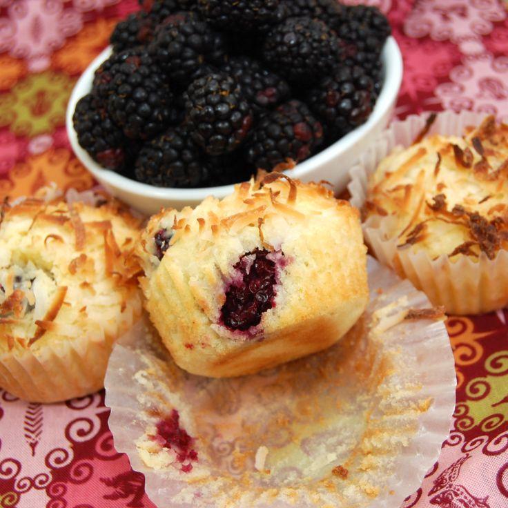 Blackberry Coconut Pound Cake Muffins   Coconut Pound Cakes, Pound ...