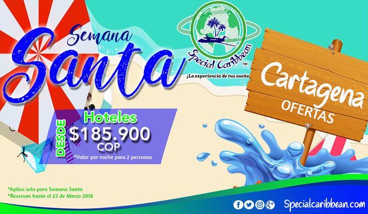 #SemanaSanta Que estas esperando para viajar en Semana Santa y disfrutar unas increíbles vacaciones! Visita Cartagena de Indias y vive ¡La experiencia de tu Sueños! Visita nuestra pagina y consulta nuestras promociones.