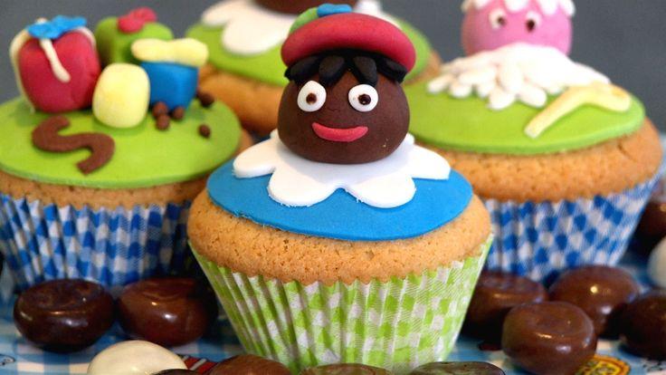 Zwarte Piet cupcakes maken