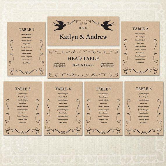 Wedding seat chart template 2