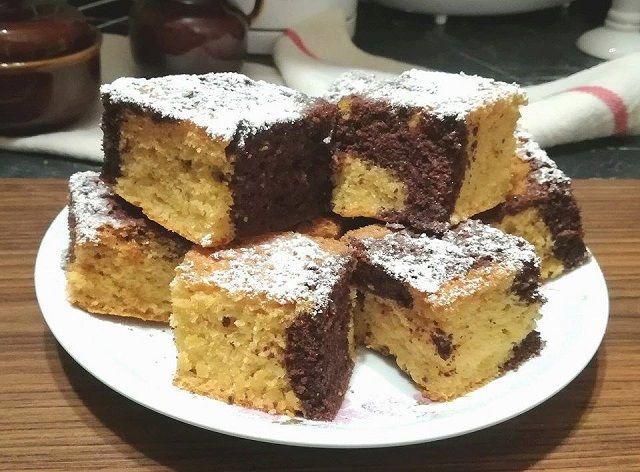 Nap és éj szelet, egy nagyon egyszerű és nagyon finom sütemény, ha gyors édességre vágysz! - Egyszerű Gyors Receptek