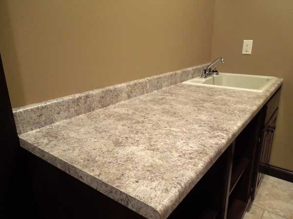Formica Belmonte Granite with Waterfall Edge  new house  Granite edges Kitchen remodel Granite