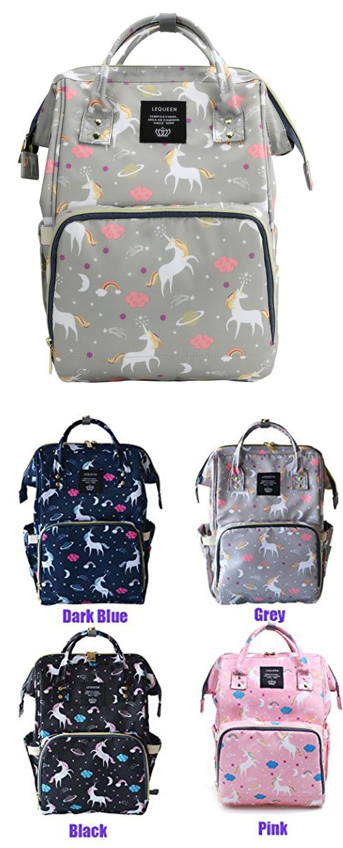 ef26a5158ece Lightweight Waterproof Diaper Bag Backpack Multi-Function Large Capacity  Travel Backpack Nappy Bags for Baby with Unicorn Cloud Star  Pattern diaperbags   ...