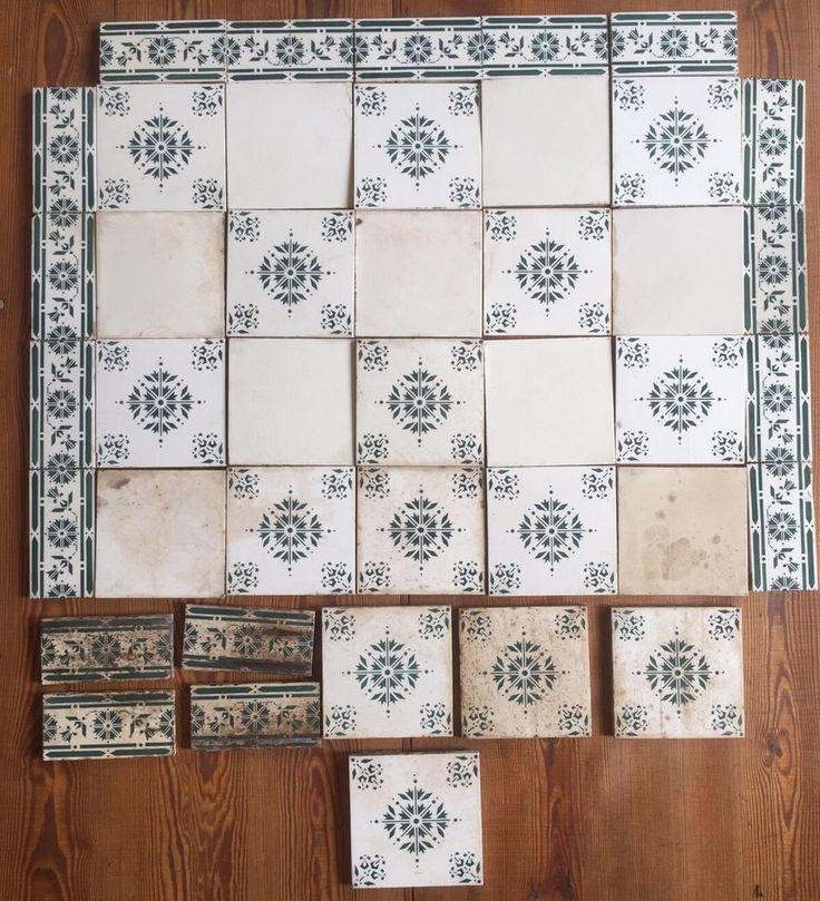 Art Nouveau Tile Alte Fliesen Bordüre Fliesenspiegel Küchenhexe 1900 Shabby  Chic