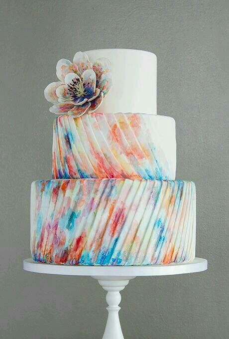 Tie-dye pleated cake design...this is PERFECT!!!