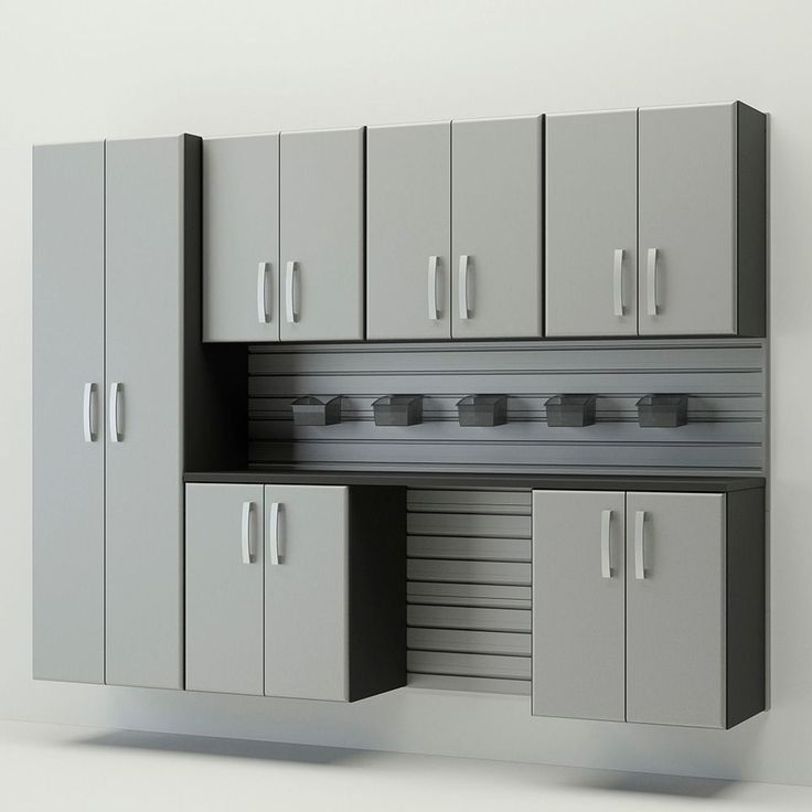 Flow Wall System 7 Piece Cabinet Set