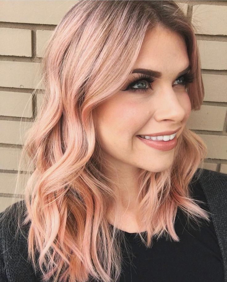 Pretty Peach Balayage  Hair by @stevenrobertsonhair