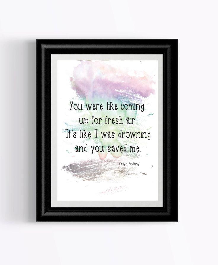 Greys Anatomy/Greys Anatomy Quote/Greys Anatomy Quotes/Meredith Grey/Derek Shepherd/Downloadable Quote/Grey's Anatomy Decor/Derek by QuoteThisOne on Etsy