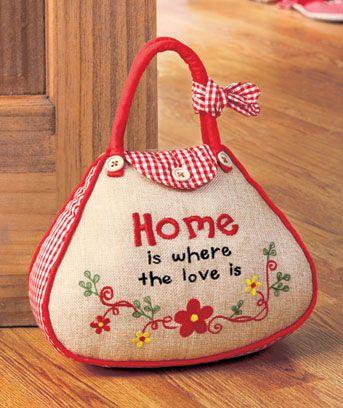 Sentiment Handbag Doorstops