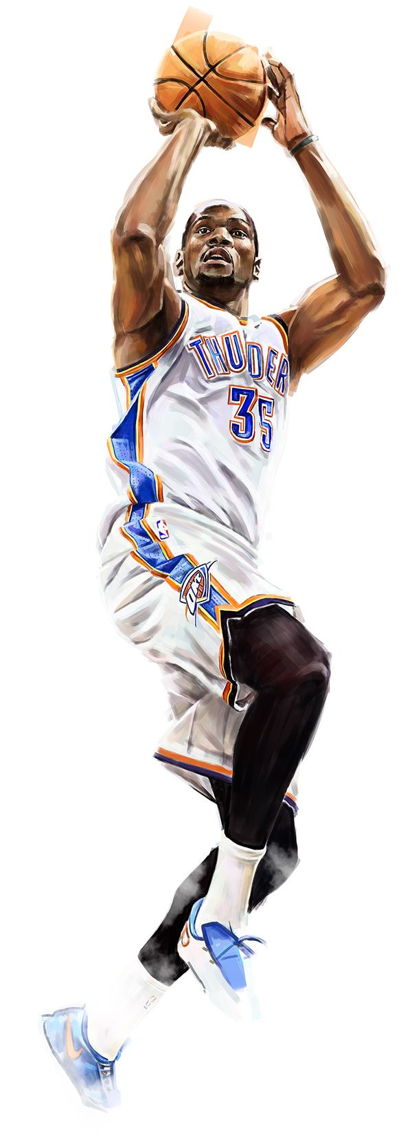 Kevin Durant - Illustrated Print on Behance