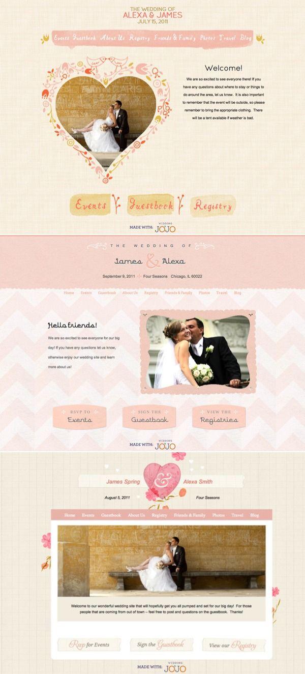 18 best wedding websites images on pinterest wedding sites free customized wedding websites by wedding jojo junglespirit Choice Image