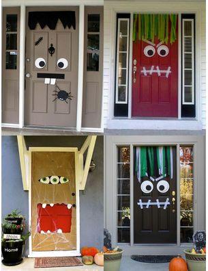 43 best halloween images on Pinterest Fall halloween, Halloween - scary door decorations for halloween