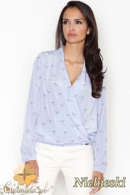 Kopertowa bluzka z długim rękawem marki FIGL.  #cudmoda #bluzki #ubrania #odzież #clothes #moda #styl