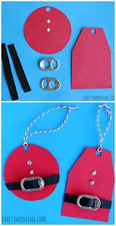 recycler les canettes ceintures noël