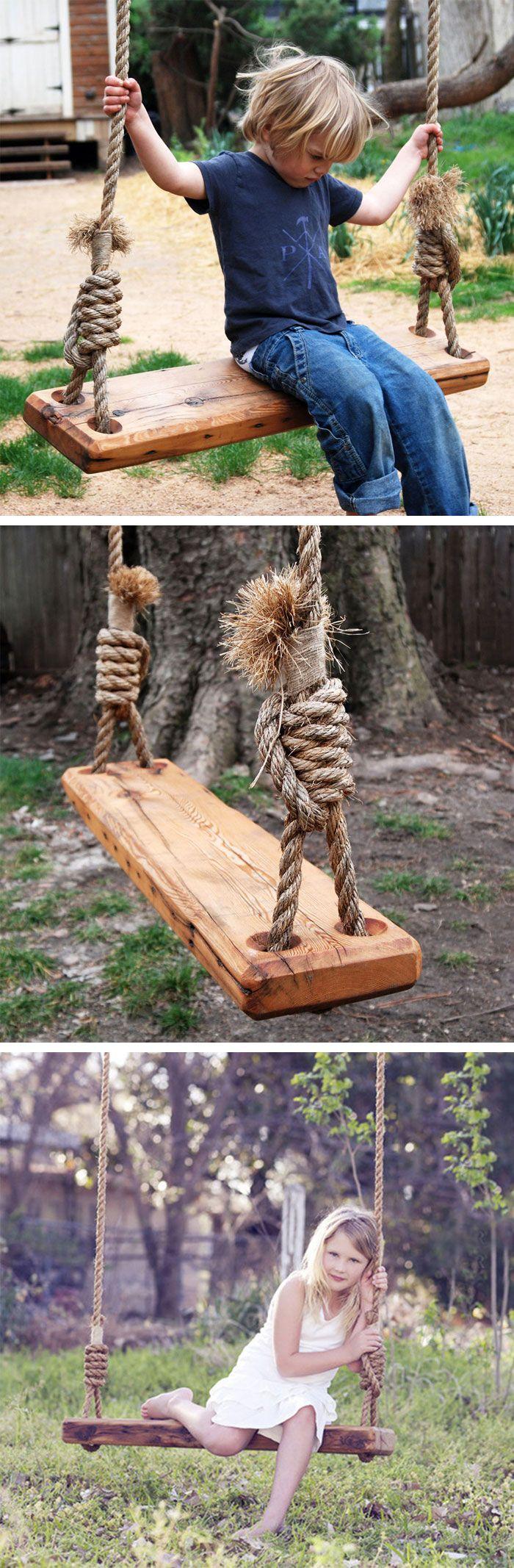 DIY tree swing #product_design