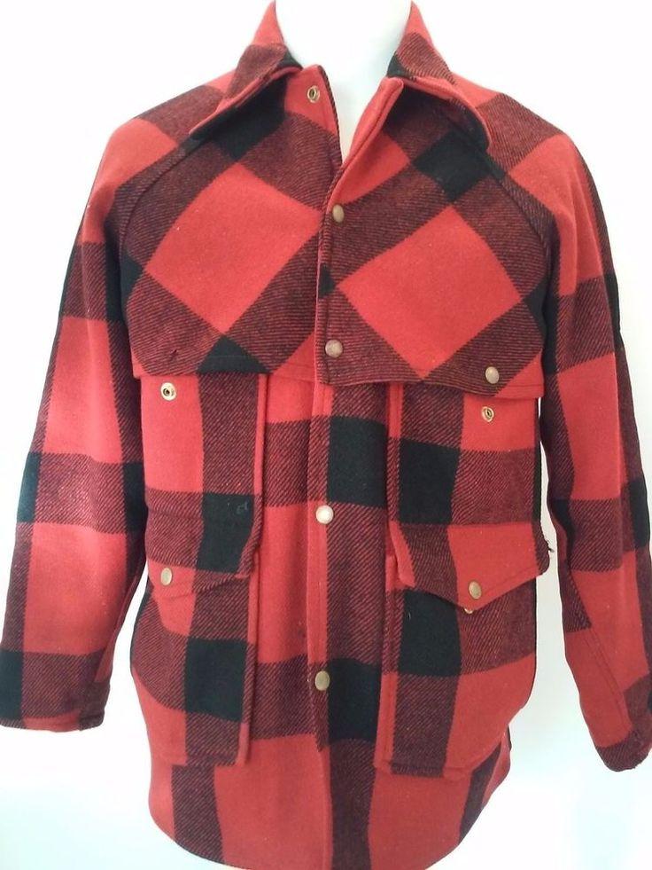 Vintage UnBranded Distressed Plaid Hunting Jacket Coat Heavy Blanket Wool L- XL #Unbranded #Hunting