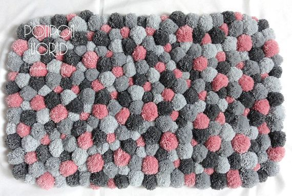 Shades of gray are quite trendy right now. I enlightened this design with delicate pink pom poms. This gives the rug required brightness and…