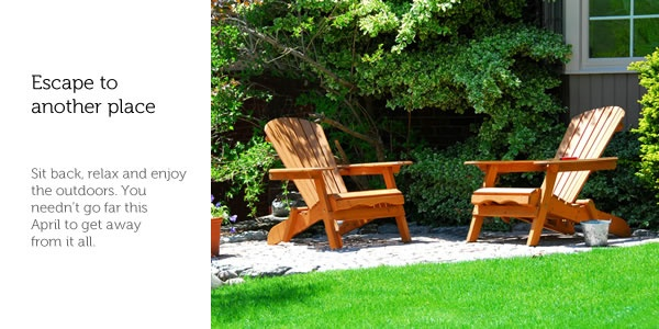 Wish you were here?: Adirondack Chairs, Growing Green, Homes Good, Landscape Idea, Tips, Backyard, Modern Patio, Outdoor Patio Furniture, Adorondack Chairs