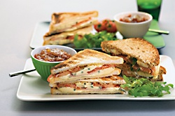Ham and Blue Toasted Sandwiches with Castello® Extra Creamy Blue in Slices #sidedish #bluecheese #recipe