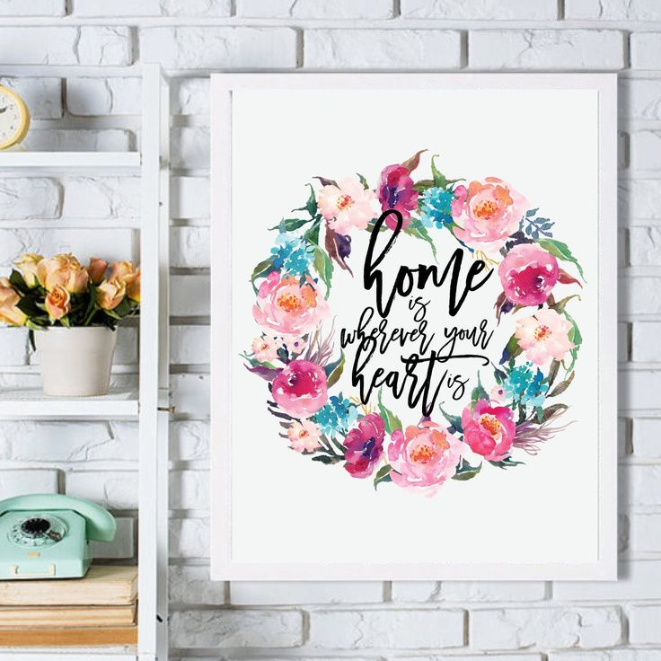 Excited to share the latest addition to my #etsy shop: Home is Where Your Heart is Printable Poster, Floral Wall Art, Watercolor Poster, Hand Painted Wall Decal, Instant download, 8x10in, 50x75cm #print #wallart #affiche #homedecor #instantdownload #giftposter http://etsy.me/2yVujT2