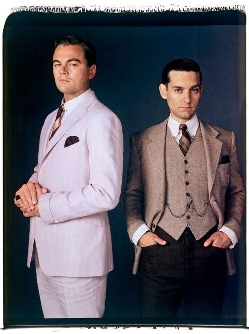 Leonardo DiCaprio and Tobey Maguire in suits by Brooks Brothers for The Great Gatsby // via @Angela Greene FAIR
