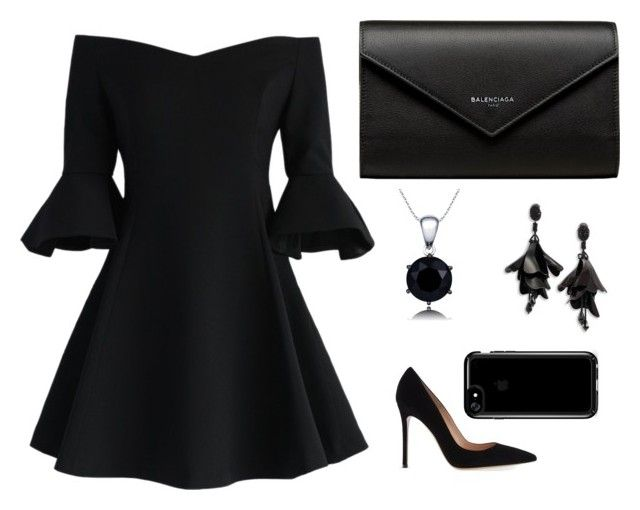 """""""Untitled #15"""" by angeline-mewengkang on Polyvore featuring Gianvito Rossi, Chicwish, Balenciaga, Oscar de la Renta and Speck"""