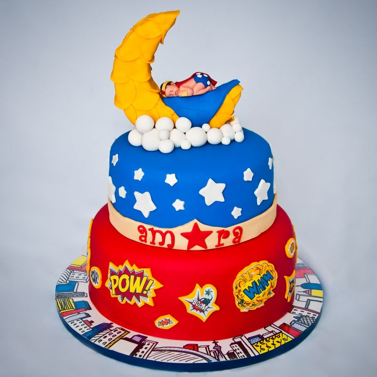 Superhero BabyShower!   Superhero BabyShower Cake! Friend Was Having A  Superhero Themed Babyshower,