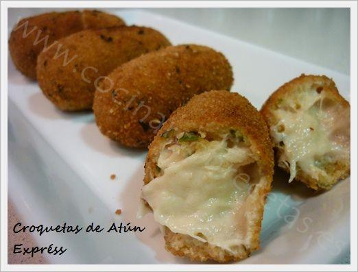 Cocinar con recetas aperitivos croquetas de atun express 2 for Ideas para cocinar