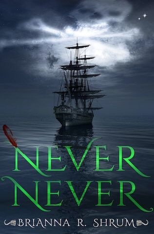 """""""Never Never"""" by Brianna R Shrum. Amazing book! Absolutely loved it! The retelling through Hook was so perfect, an incredible fit to the classic Peter Pan! I love how the writing changes as James grows up, middle grade when younger, upper YA as an adult. Definitely recommend, but beware a few scenes..."""