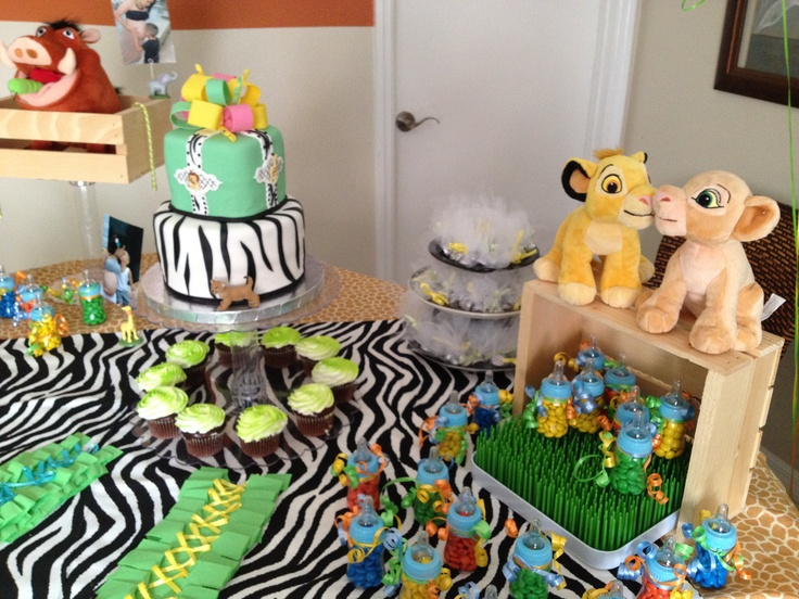 Baby shower lion king decoration baby shower ideas for Baby shower decoration ideas pinterest