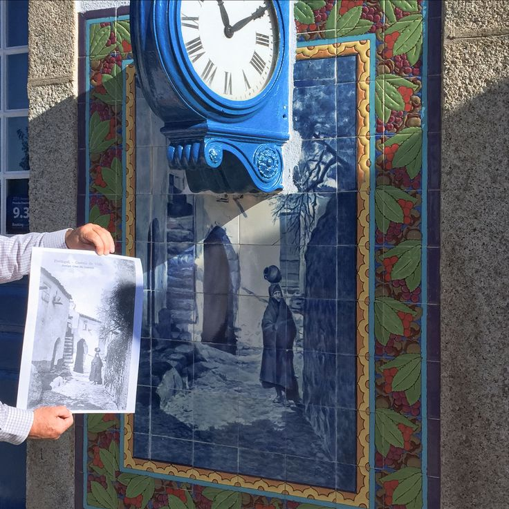Azulejos: Castelo de Vide | Estação Ferroviária de / Railway Station of Castelo de Vide | Jorge Colaço | c. 1937 ||| postal / postcard: Joaquim Alfredo da Costa Pinto | c. 1930 #Azulejo #AzulejoDoMês  #AzulejoOfTheMonth #CasteloDeVide #JorgeColaço