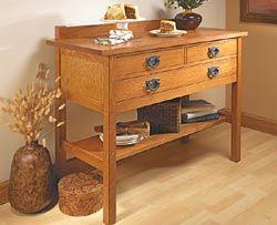 Craftsman Sideboard Woodworking Plan Diy Wood Designs