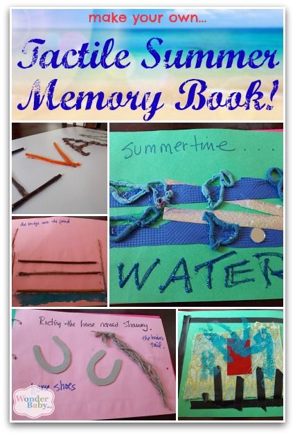 How will you remember your summer activities? How about with a tactile memory book!