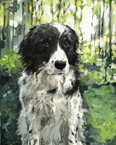 I love this artist's work!  Custom Pet Portrait 8x10 Animal Watercolor by studiotuesday, $250.00