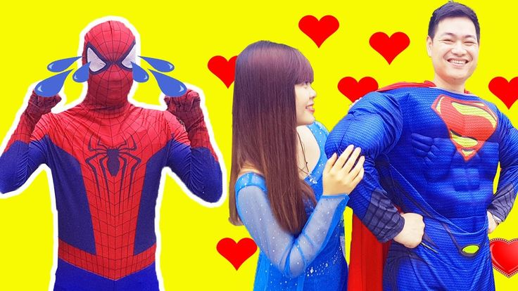 Frozen Elsa and Spiderman Love Story ♥ Spiderman Rescue Elsa from Joker ...