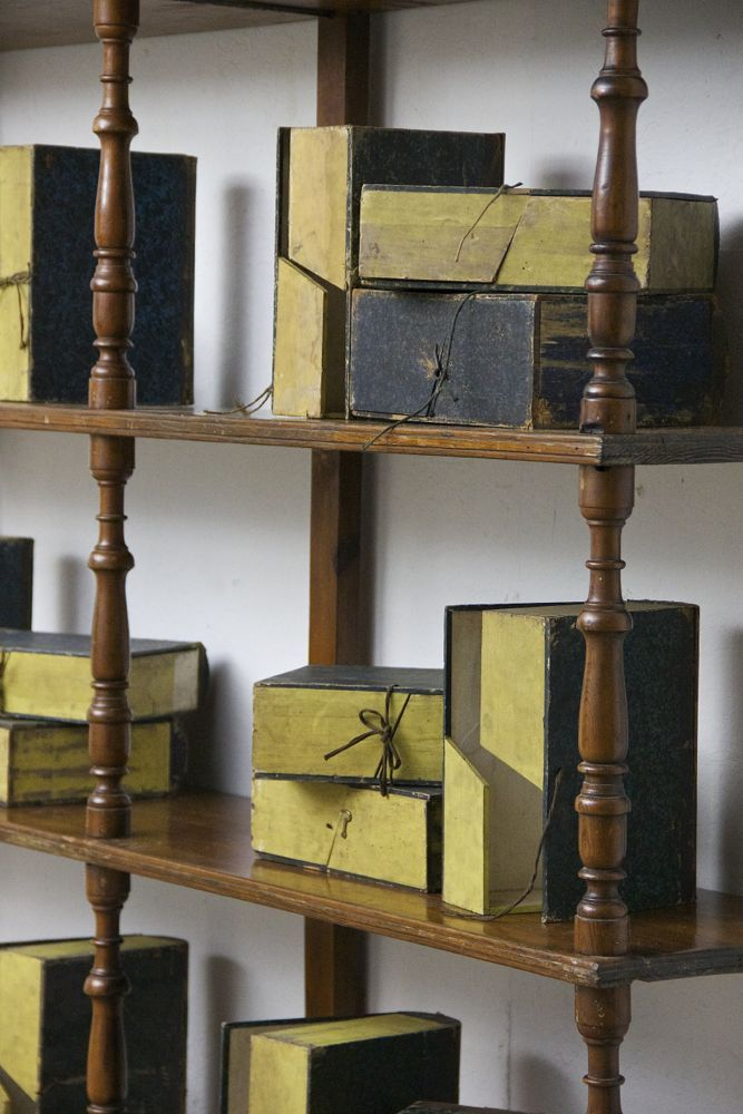 A large collection of 19th century book boxes. http://www.matthewcox.com