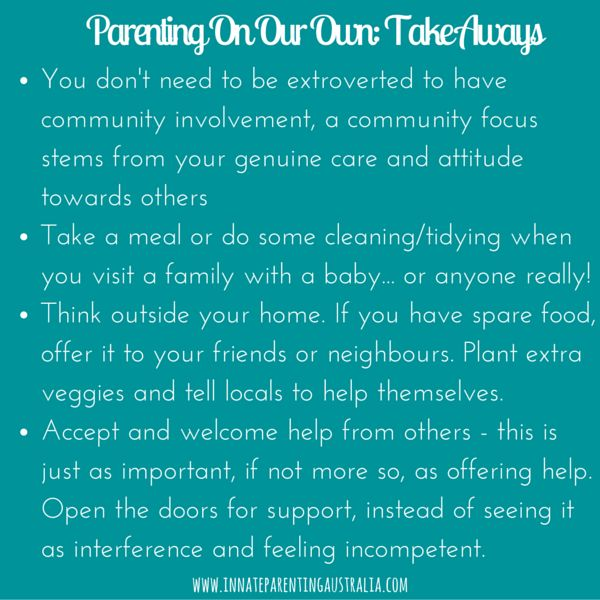 Why segregated parenting is negatively impacting our health, lifestyle and children... and tips on what you can do to up your community spirit
