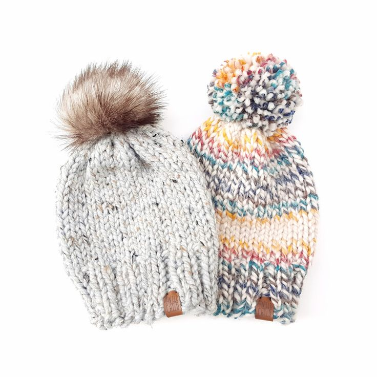 Knit Toque - Solid.  Handmade knit toque finished with your choice of yarn or faux fur pom pom.  Available in newborn, baby, toddler, child, or adult sizes.  Handcrafted in Vancouver, Canada.