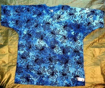 octopus design on T shirt by Mini Heath