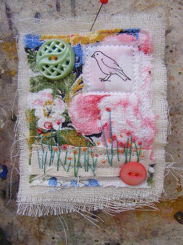 Handmade Brooch by hens teeth, via Flickr