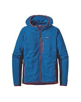 The Patagonia Performance Better Fleece Hoodie is a performance version of the tried-and-true Better Sweater® Hoody designed for active lifestyles. This hoodie combines lightweight polyester knitted fleece and supple Polartec® Power Stretch® fleece to create the perfect mix of lightweight warmth and motion-friendly usability…so it won't restrict your adventures. Shop online: http://www.outsidesports.co.nz/brands/patagonia/