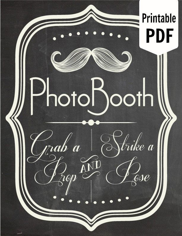 Photo Booth Props Template Printable Printable Pdf Photo Booth