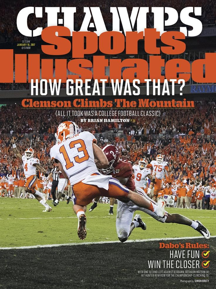 Photo: Hunter Renfrow on the cover of Sports Illustrated - Clemson Football Update | TigerNet