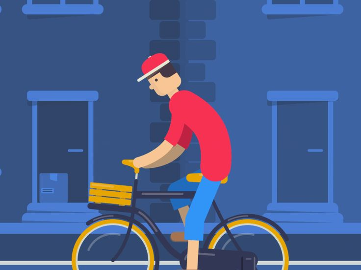Dude on a bike. by Max Vellinga  #aftereffects #ae #animation #flatdesign #rubberhose