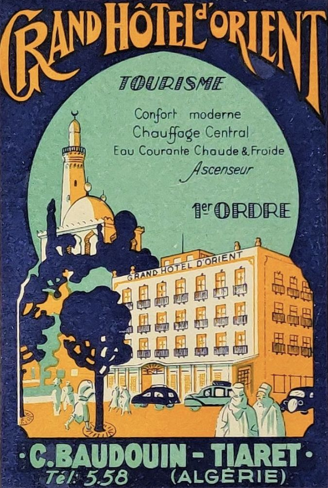 Grand Hotel D Orient Vintage Travel Posters Grand Hotel Luggage Labels