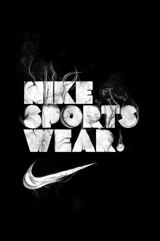 Nike typography.