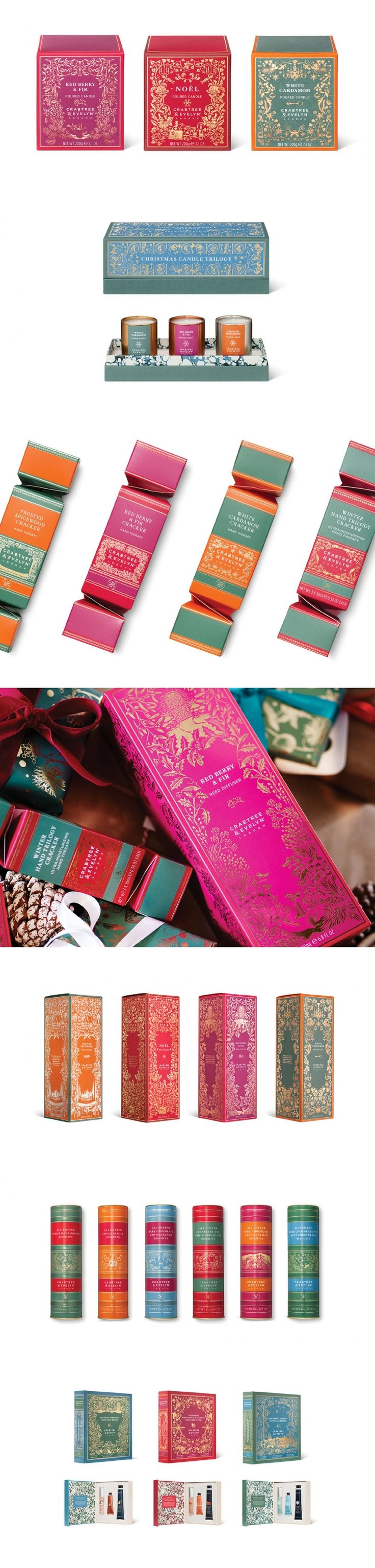 We're Swooning Over This Holiday Packaging From Crabtree & Evelyn — The Dieline | Packaging & Branding Design & Innovation News