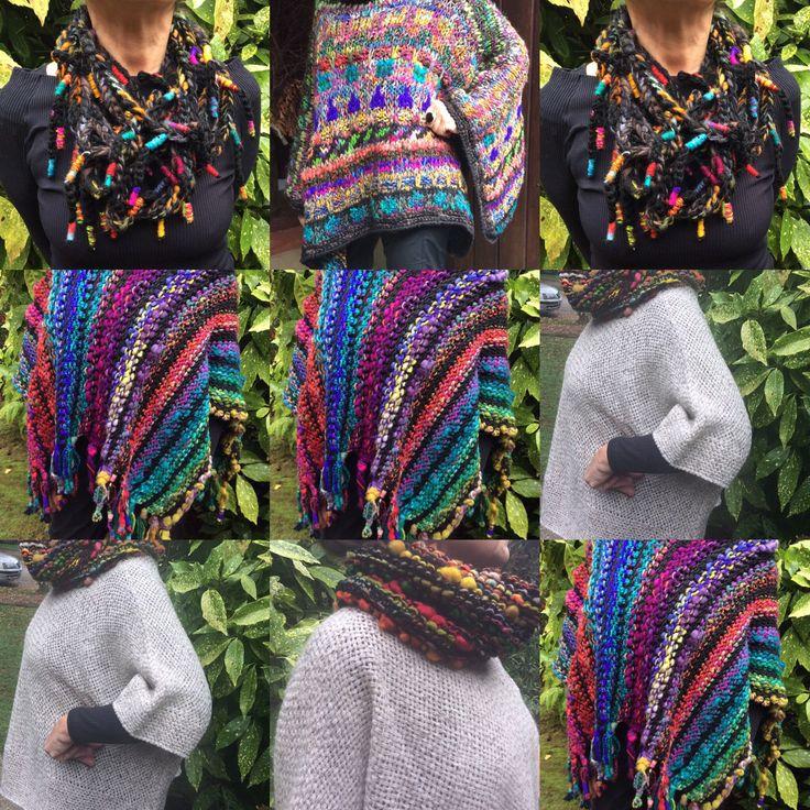 Tejidos Hebras. Prendas hechas a mano a palillo y a telar en la Region de los Ríos , en el sur de Chile.