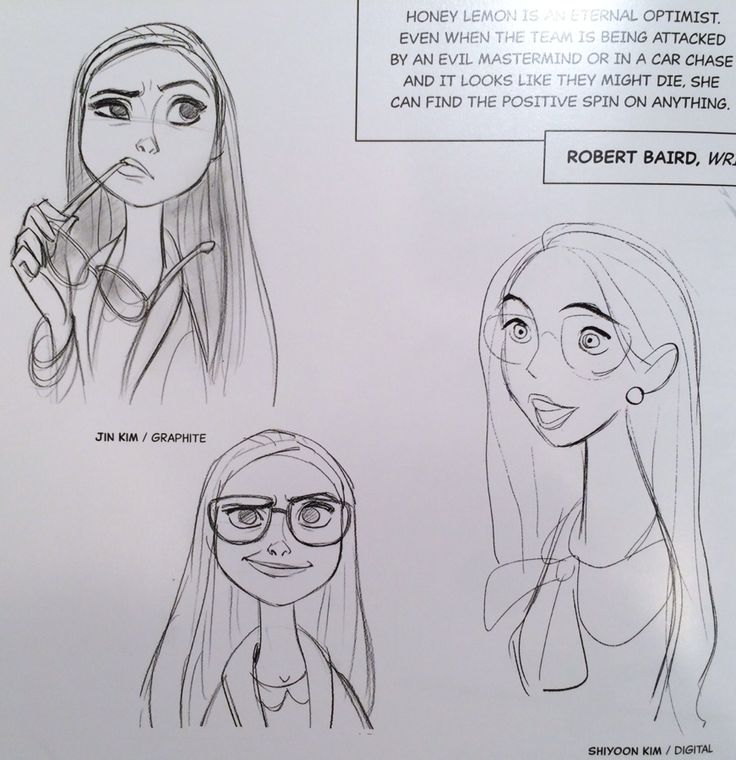 Honey Lemon concept art by Lorelay Bove, Jin Kim, Kevin Nelson, and Shiyoon Kim (Art of Big Hero 6)